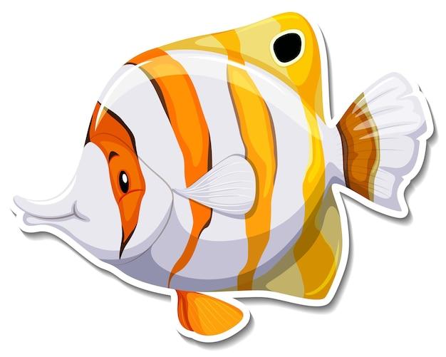 Teardrop butterflyfish meerestieraufkleber