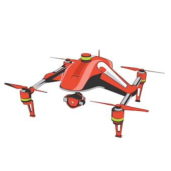 Tech drohne quadcopter vektorelement