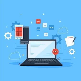 Tech laptop app entwicklung