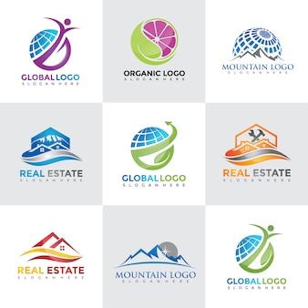 Tech logo design kollektionen
