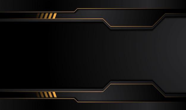 Tech schwarzer hintergrund mit kontrastierenden goldgelben streifen.