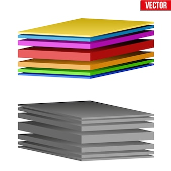 Technische darstellung eines mehrschichtigen gewebes. demonstration der struktur des materials. illustration auf weißem hintergrund