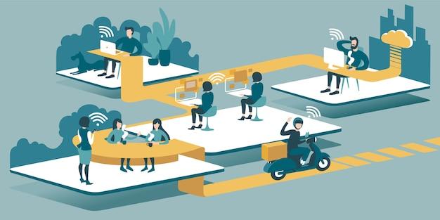 Technische illustration 3d