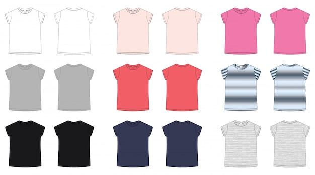 Technische skizze t-shirt für kinder.