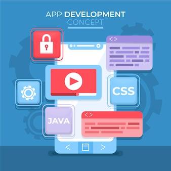 Technische vorlage für die app-entwicklung
