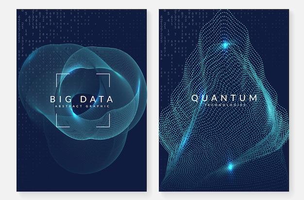 Technischer hintergrund der künstlichen intelligenz. digitale technologie, deep learning und big data-konzept. abstraktes visuelles für industrieschablone. gewellter hintergrund für künstliche intelligenz.