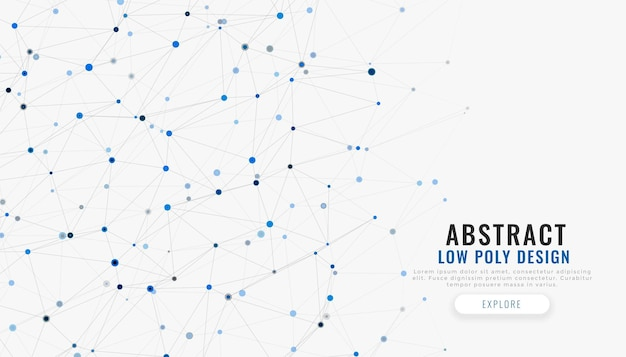Technischer hintergrund für netzwerkverbindungslinien und punkte