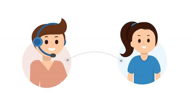 Technischer online-support für kunden