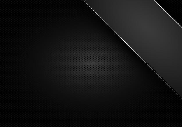 Technisches dunkles design mit perforierter metallstruktur.