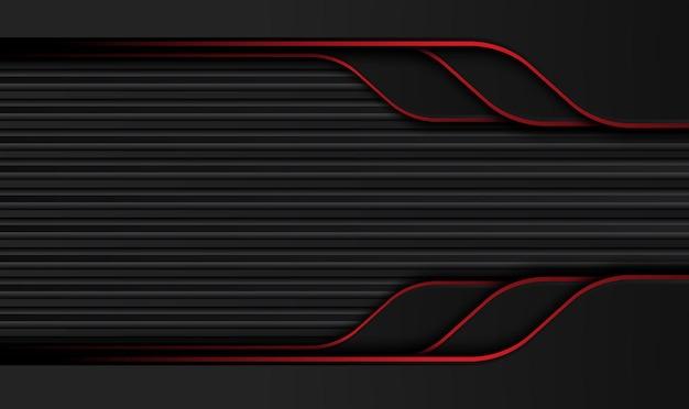 Technisches innovationskonzept des abstrakten metallischen roten schwarzen rahmenlayoutdesigns