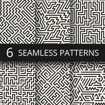 Techno grafische linie nahtlose texturen. moderne streifenmode-designhintergründe
