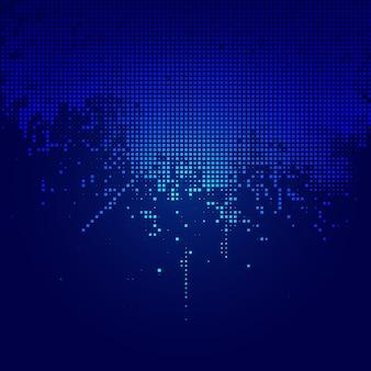 Techno quadriert hintergrund