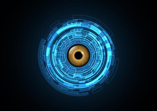 Technologie abstrakte zukünftige augenkreis hintergrund vektor-illustration