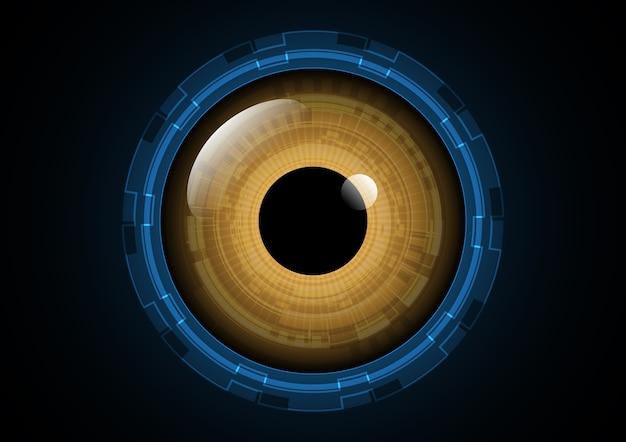 Technologie abstrakte zukünftige kreis auge hintergrund vektor-illustration