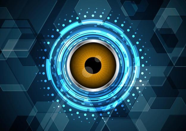 Technologie abstrakte zukünftige schaltung augenkreis sechseckig
