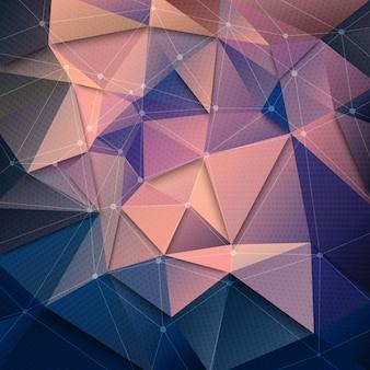 Technologie-abstrakter hintergrund 3d
