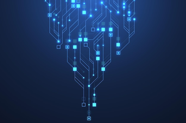 Technologie abstrakter leiterplattenhintergrund