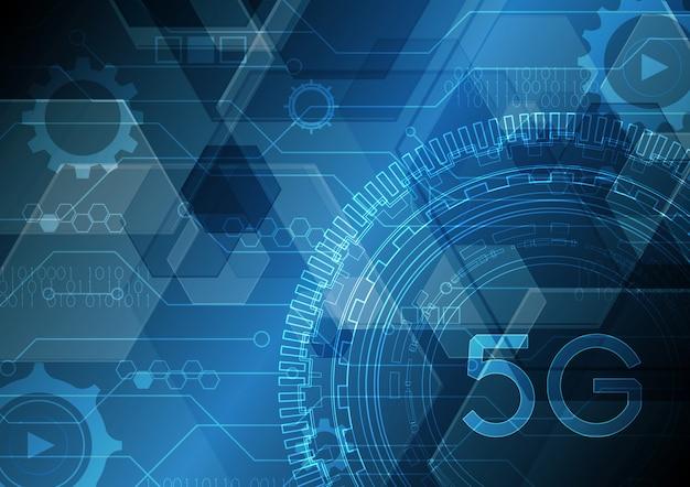 Technologie abstrakter schaltungskreis sechseckiger hintergrund