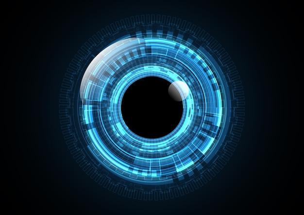 Technologie abstrakter zukünftiger augenkreishintergrund