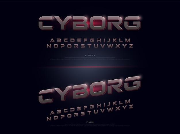 Technologie alphabet silber metallic und effekt designs