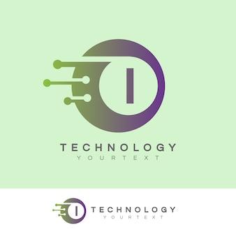 Technologie anfangsbuchstabe i logo design