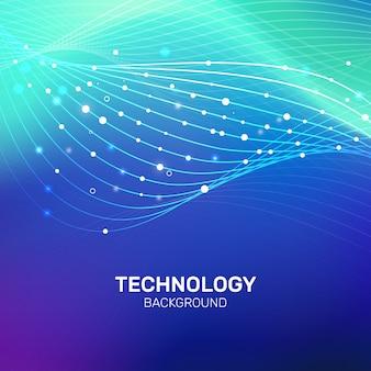 Technologie big data-hintergrund mit farbverlauf