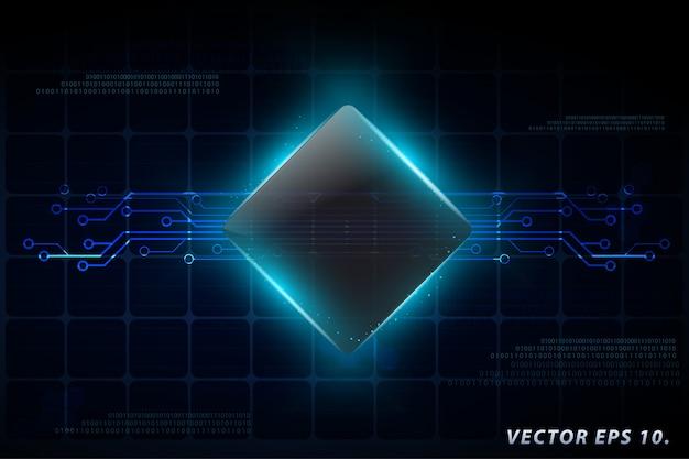 Technologie-business-konzept, netzwerk-prozess-diagramm