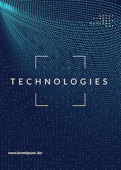 Technologie-cover-design für big data