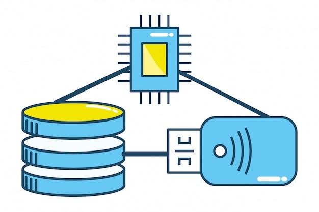 Technologie-cpu-cartoon