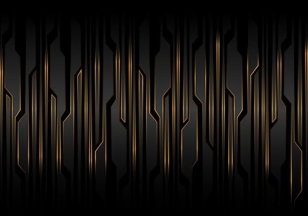 Technologie des gelben lichtes der technologie der schwarzen linie futuristischen musters.