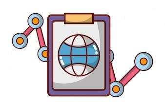 Technologie, die Karikatur berechnet