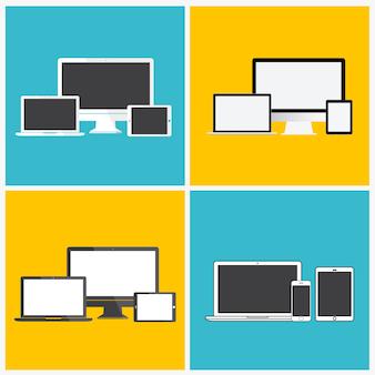 Technologie-digital-gerät-ikonen-konzept