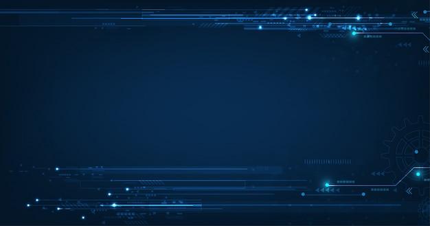 Technologie dunkelblauen hintergrund