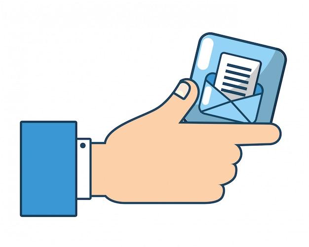 Technologie-e-mail-cartoon