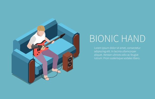 Technologie für behinderte menschen horizontales banner