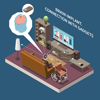 Technologie für behinderte menschen isometrische zusammensetzung