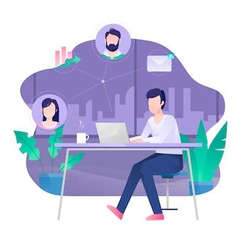 Technologie für die arbeit zu hause