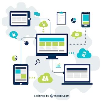 Technologie für die social-media-vektor
