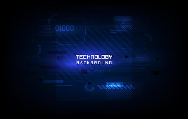 Technologie futuristisches etikettendesign. leuchtendes cyber-hologramm. sci fi digitales futuristisches thema.