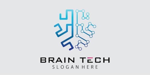 Technologie-gehirn-logo-design