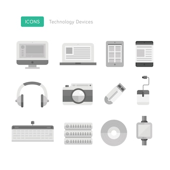 Technologie geräte icons