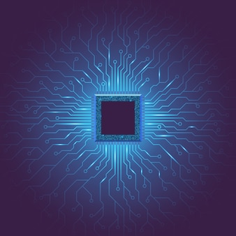 Technologie-hintergrund für maschinelles deep learning