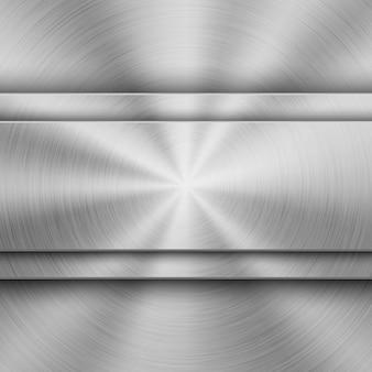 Technologie-hintergrund mit metallrundschreiben gebürsteter beschaffenheit