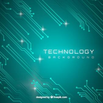 Technologie hintergrund mit schaltungen