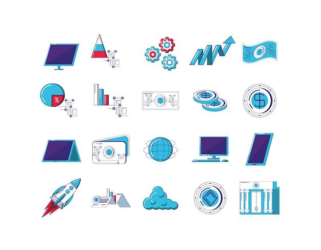Technologie-icon-set