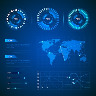 Technologie-infografik-sammlung