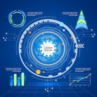 Technologie infografiken design