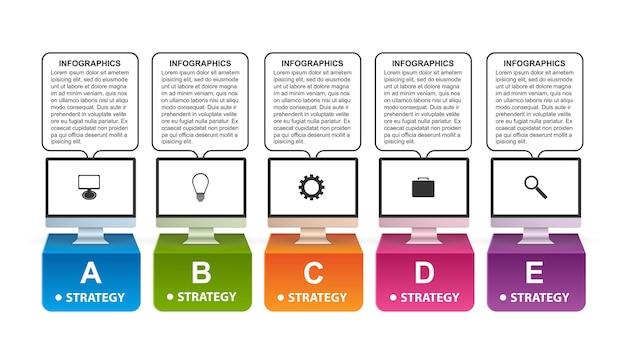 Technologie-infografiken-vorlage. Premium Vektoren