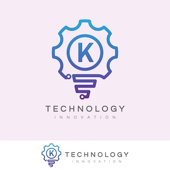 Technologie innovation anfangsbuchstabe k logo design