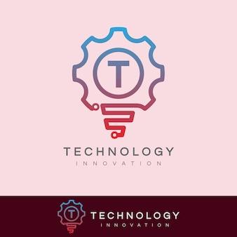 Technologie innovation anfangsbuchstabe t logo design